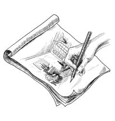 Room sketch vector