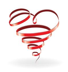 Ribbon heart vector