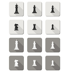Flat icons - chess vector