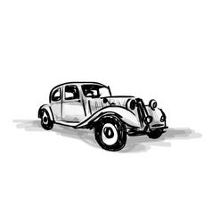 Retro car sketch for your design vector