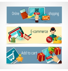 E-commerce banner set vector
