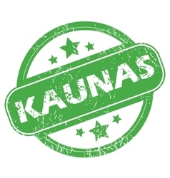 Kaunas green stamp vector