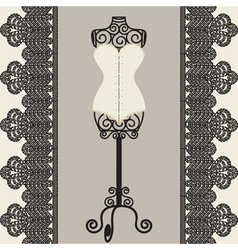 Mannequine and corset vector