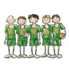 Basketball team vector