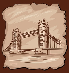 Old tower bridge vector