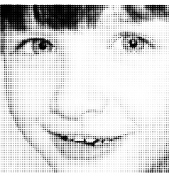 Portrait joy young girl vector