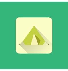 Tourist tent sign icon camping logo vector