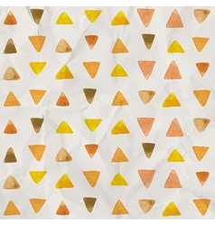 Watercolor triangle pattern vector