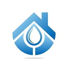 Logo water drop shapes symbol design icon vector