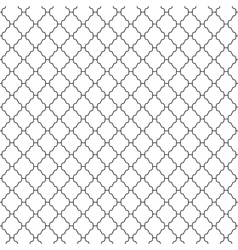 Abstract seamless ornamental lines monochrome vector
