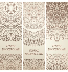 Tribal ethnic grunge banners vector