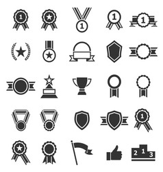 Award icons on white background vector