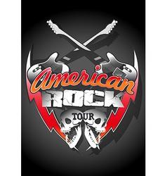 American rock tour with skulls under a spot light vector