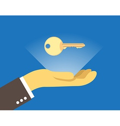 Key over the hand vector