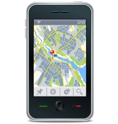 Gps navigator interface vector