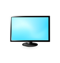 Lcd tv isolated on a white vector
