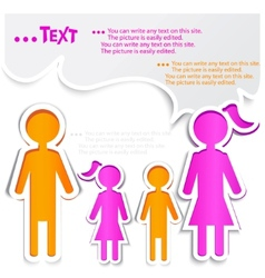 Family talking paper bubbles for speech vector