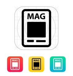 Magazine icon vector