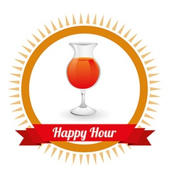 Happy hour design vector