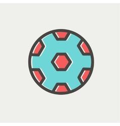 Soccer ball thin line icon vector