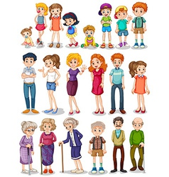 Family set vector