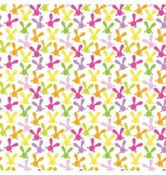 Colorful seamless pattern with easter bunny vector