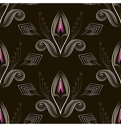 Seamless pattern art deco graphic ornament vector