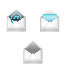 E-mail icons set vector