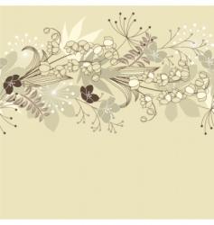 Seamless horizontal floral pastel pattern vector