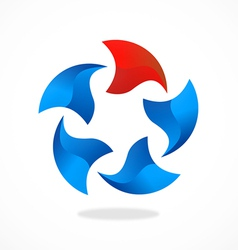 3d circle round abstract logo vector