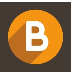 Letter b logo flat icon style vector