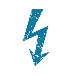 Lightning grunge icon vector