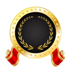 Golden winner medal vector