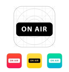 On air broadcasting icon vector