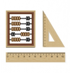 Wooden abacus vector