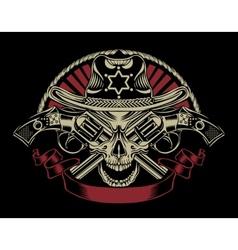 Sheriff skull vector