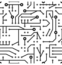 Printed circuit seamless pattern vector