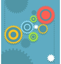 Flat design gear abstract background vector
