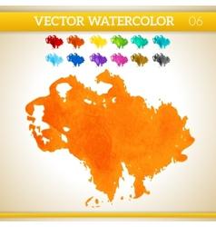 Orange watercolor artistic splash for design and vector