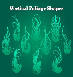 Vertical foliage shapes vector