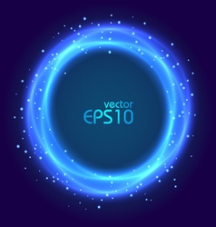 Abstract blue glowing circle vector