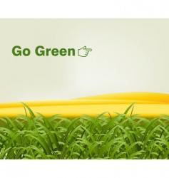 Grassy landscape vector
