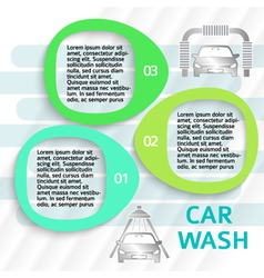 Car wash service ads page flyer background vector
