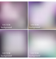 Abstract colorful blurred backgrounds set vector