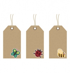 Wildlife tags vector