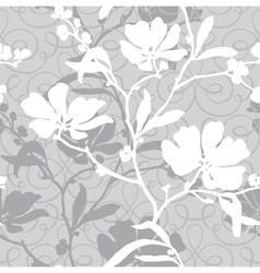 Elegance seamless pattern with flowers flo vector