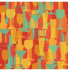 Alcohol bottles and glasses seamless pattern beer vector