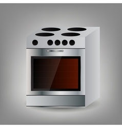 Kitchen oven icon vector