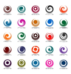 Spiral movement in circle shape vector