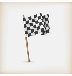 Realistic checkered racing flag vector